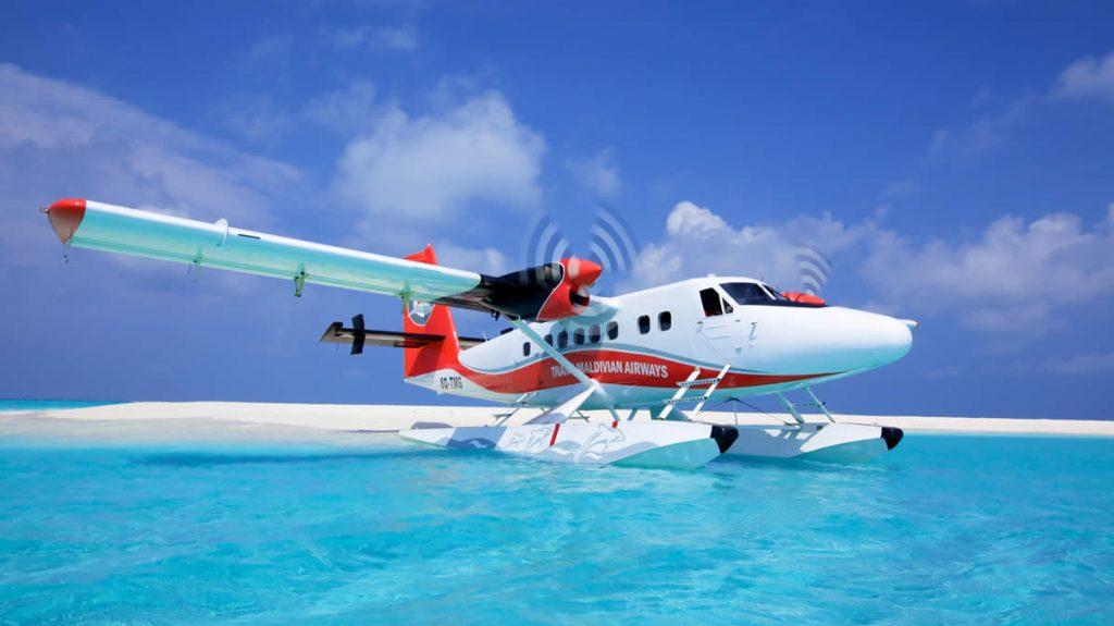 maldives seaplane ride